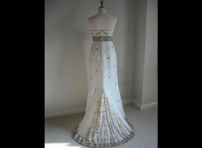 Wedding dress designer reading prettystitch bridal for Sari inspired wedding dress